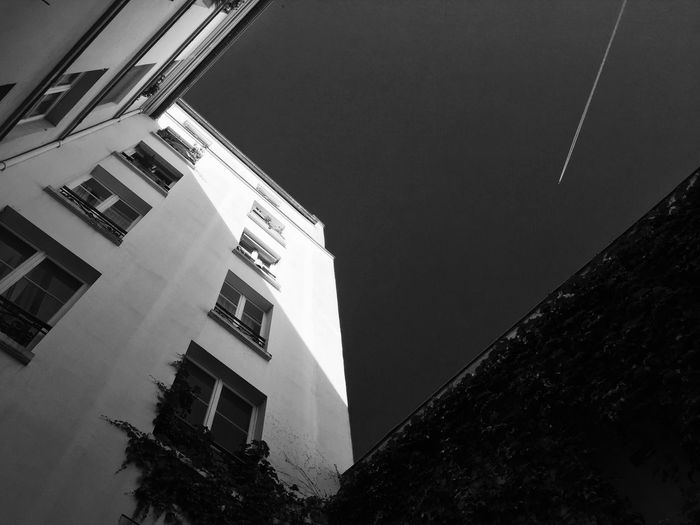 Monochrome Plane Paris Buildings