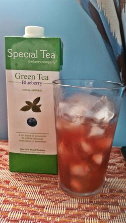 This drink is super good! I bet it would taste great with vodka too! Haha!!! GreenTeaBlueberry