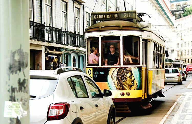Come And See Scenery Shots People Watching Looking Out Of The Window Public Transportation Color Portrait Walking Around Taking Pictures Lisbon Streetphotography Beauty In Ordinary Things What Are You Thinking About?