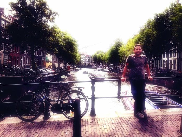 Trip Bicycle One Man Only Portrait Bicycles Beauty In Nature Amesterdam Amesterdamcity Paraisos Artificiales