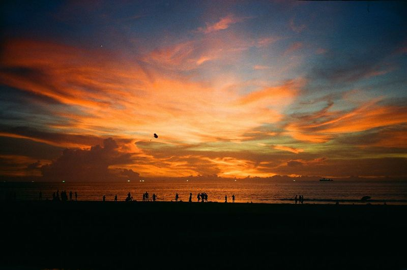 Phuket Tai  Sky Orange Color Silhouette Beauty In Nature Water Scenics - Nature Sea Beach First Eyeem Photo