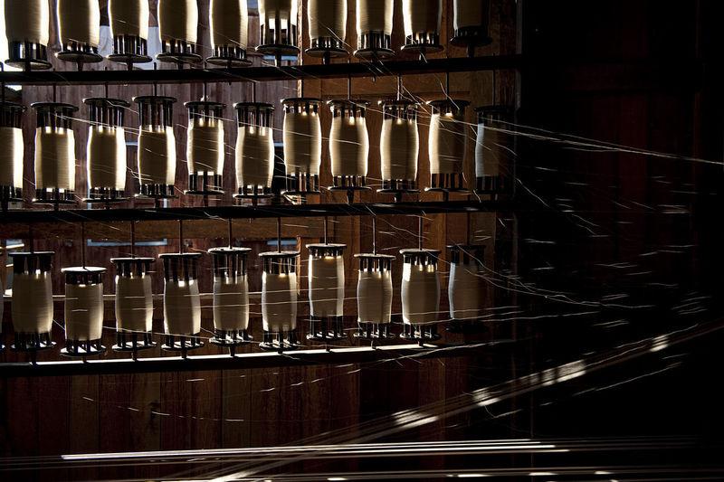 Row of piano