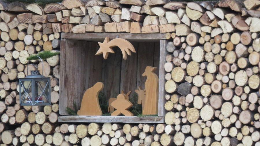Nativity NativityScene No People Outdoors Wood - Material