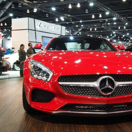 Mercedes AMG GTS at the Vancouver Auto Show Mercedes AMG Amggts Vancouver Explorebc Vancity Vancitylife Show Carculture Sportscar