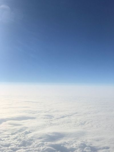 Scenic view of cloudscape against blue sky