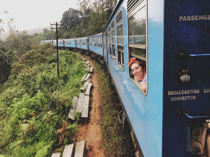 Paradise Window View Tourism Train Rides Traveling Young And Free Young Woman Skincare Dreams View Holiday Vacation Travel Tourism Paradise One Person Real People Smiling Lifestyles Plant Leisure Activity Day Train Portrait Happiness Emotion Nature Outdoors Young Adult It's About The Journey