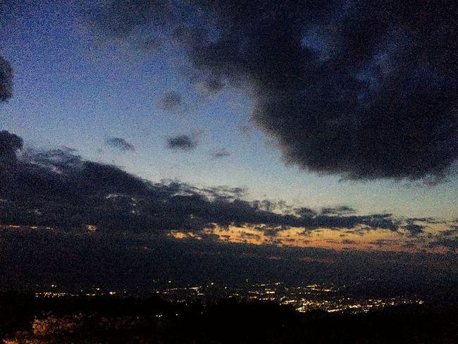 2018.06.02 の #高ボッチ高原 からの #夜景 。これも、 #iPhone写真 ( #iPhone6Plus ) なので、やっぱり写りが悪いです。 Iphone6plus IPhone写真 高ボッチ高原 Sky Beauty In Nature Scenics - Nature Tranquil Scene Tranquility Nature No People