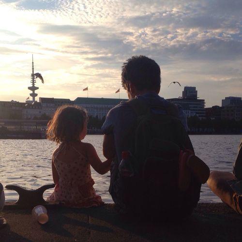 Parenting Single Dad Childhood Sunset