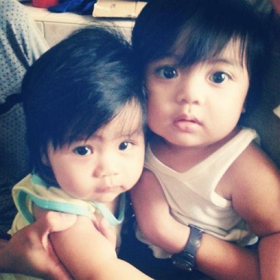 Chutie baby boys!! Super nakakagigil sila! Hehehehe Jc Alden Littleboys 07052014 😍😄😃😊💛💜💙💚👶👶