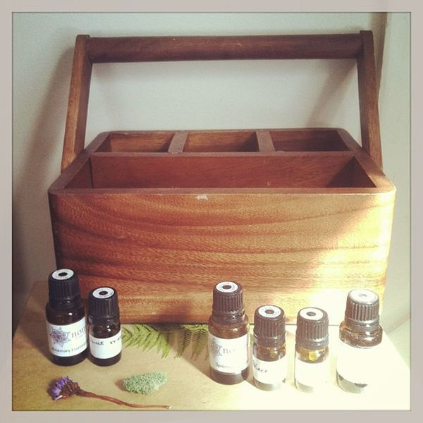 my sweet little picnic-carrier of Essentialoils ... makes me so happy. ????