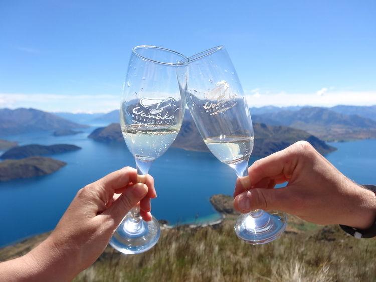 Roys Peak Lake Wanaka 2013 engagement <3 Champage Champagne Glasses Engaged Engagement Happyness Lake Wanaka Love New Zealand New Zealand Scenery NZ Roys Peak View First Eyeem Photo