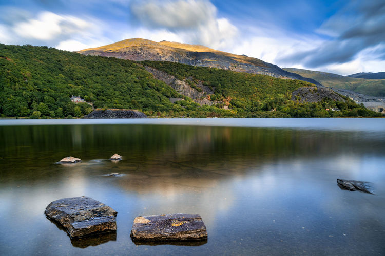 Gorgeous Snowdonia, lakes, mountains and stunning scenery Water Mountain Beauty In Nature Lake Cloud - Sky Rock Scenics - Nature Sky Rock - Object Tranquility Solid Day No People Nature Reflection Tranquil Scene Outdoors Vertebrate Animal Themes Wales Wales UK Snowdonia