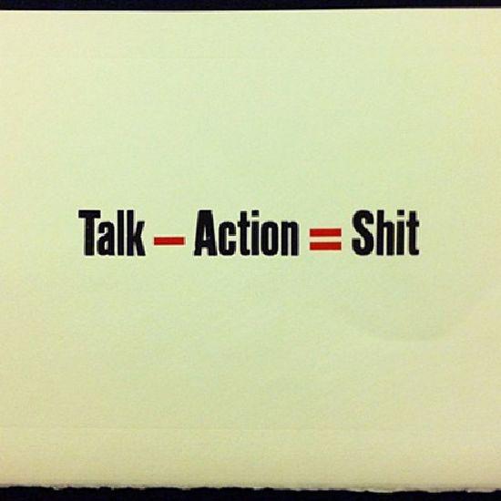 Talk Ngomong Action Aksi shit taik
