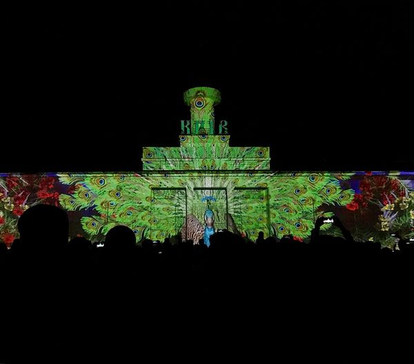 Festival Of Lights Kyivlightsfestival Lights Festival 3D Lighting Equipment Sky Architecture Night Built Structure Illuminated Building Exterior Copy Space Tourism Art And Craft Silhouette Pattern Creative Space