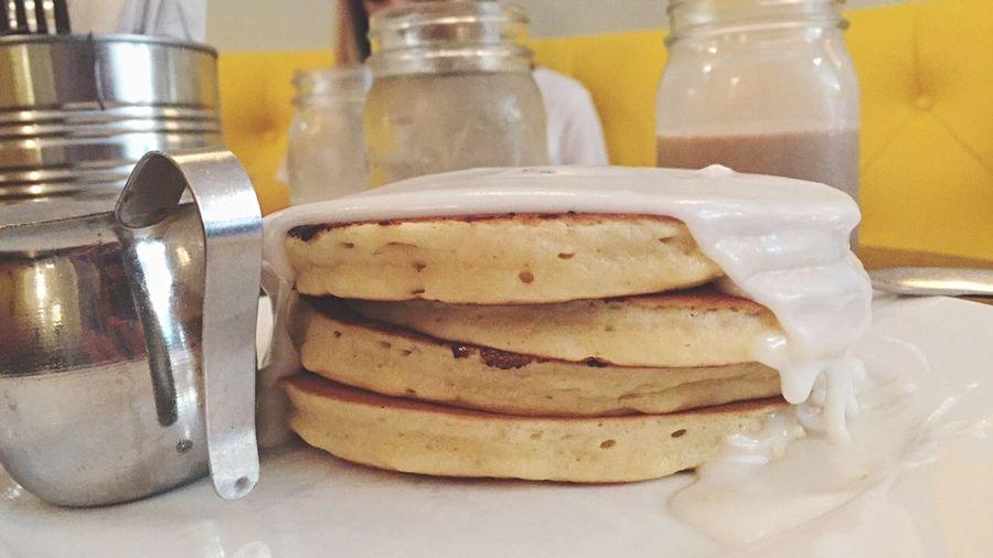cinnamon roll pancakes... Yummy As Heck