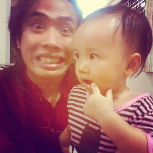 With my niece, Zahra Aqillah. Just ignore that silly expression of mine. Home AShockingReturn MajlisTahlil .