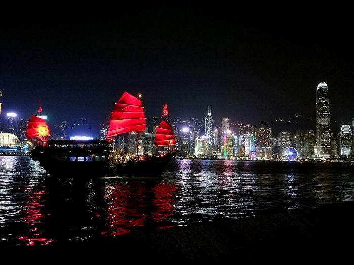 HongKong Victoria Harbour Culture Of Hong Kong Light Show Lifestyles Nightshot Huawei P9 Plus Leica Summarit