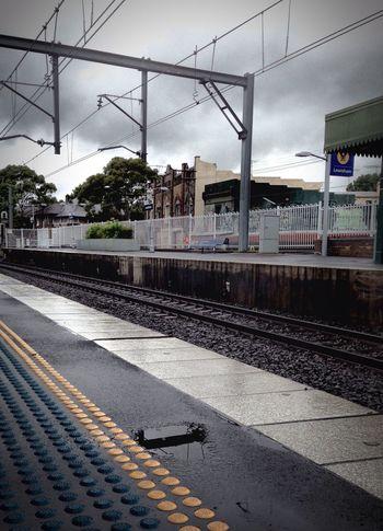 Lewisham train station on a Cloudy Day in Sydney . VividHDR app, iPhone5 camera. Commuting Public Transportation