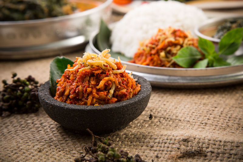 Sambal Tugtug / Tugtug Hot Sauce Bowl Chef Close-up Enak Focus On Foreground Food Food And Drink Freshness Hot Hotsauce Indonesianfood Makan Nasi No People Pedas Sambal Spicy Teri Traditionalfood