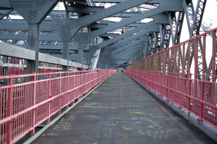 Walkway leading to bridge