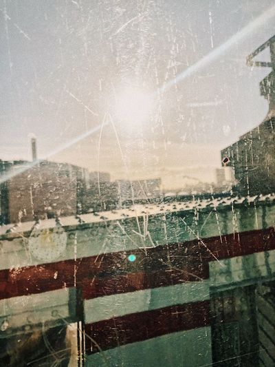 Grunge light Sun Water Nature No People Day Wet Transparent Built Structure Architecture Window Glass - Material Outdoors Sky Building Exterior