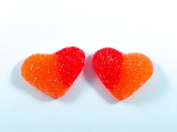 Valentine's Day  Lovers Sugar Hearts Sweet Food Sweet Jellybean Jelly Sugar Heart Romanticism Romance Romantic Couple Togetherness Heart Shape White Background Love Food And Drink Sweet Food Food Studio Shot Candy Freshness Candy Heart Temptation Unhealthy Eating Indulgence Dessert Gelatin Dessert Ready-to-eat