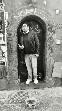 -PEOPLE- SINGING at Naples Tenor at Spaccanapoli Singingoutloud Napoli Napoli Italy Napoliphotoproject Street Photo Street Photography Street Life People Peoplephotography People Photography Real People Random People People Of EyeEm Black And White Collection  Men Black & White Black And White Photography Black And White Black&white Streetphotographer Tenor