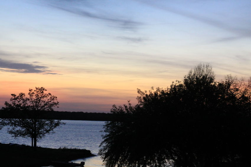 Beauty In Nature Cloud - Sky Environment Exploration Growth Lake Nature No People Non-urban Scene Outdoors Plant Scenics - Nature Silhouette Sky Sunset Tranquil Scene Tranquility Tree Water