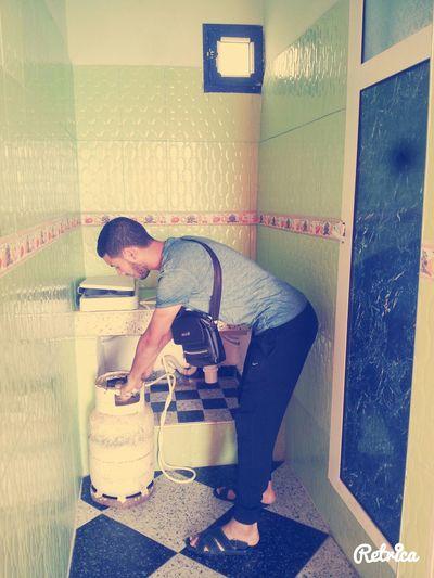 Ammar,,,,,,,, cuisinier de l equipe de stage ------1er jour