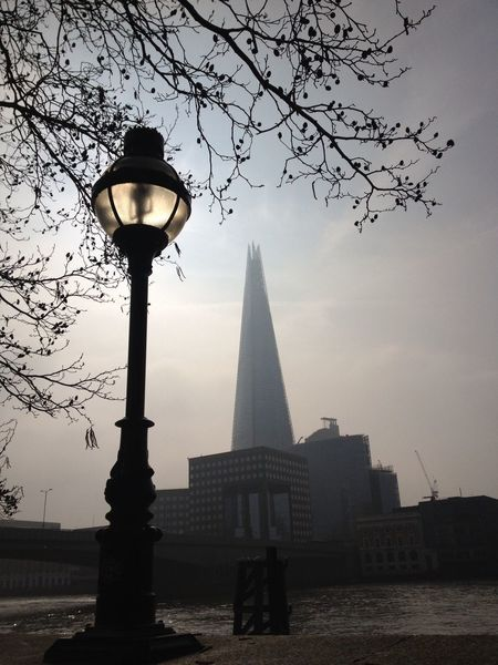 Architecture Autumn Clear Sky Day Lighting Equipment London Low Angle View Nature No People November Outdoors River Thames Sky Street Light Thames River Thames River Side Thames Skyline The Shard, London