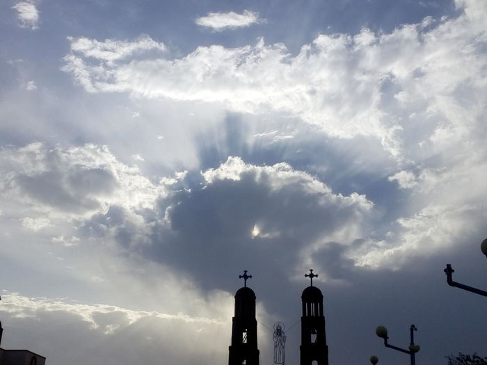 Cloud - Sky Travel Destinations Sky Dramatic Sky Cloudscape Christian Weather Christianity Egypt Monk  Egyptphotography Egyptian Art Outdoors Statue Day No People