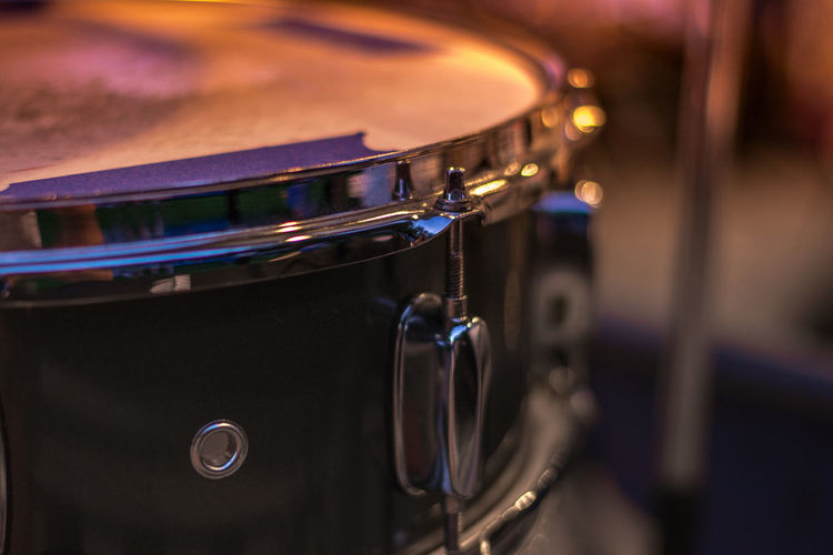 Artistic Drum Drummer Perspective Soft Arts Culture And Entertainment Bokeh Bokeh Photography Chrome Close Up Close-up Concert Concert Photography Depth Of Field Drum - Percussion Instrument Drumming Drums Indoors  Massachusetts Music Musical Instrument No People Small Town Snare Snare Drum