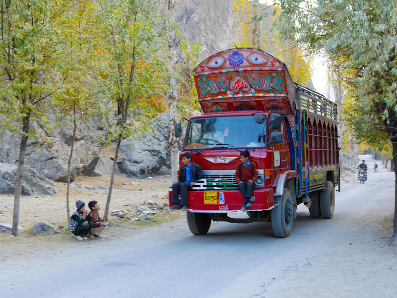 Transportation Land Vehicle Mode Of Transport Tractor Beautiful Car Children Truck Red Truck Truck On Road Pakistan Children Funny Playing Children Decoratated Truck Pakistan