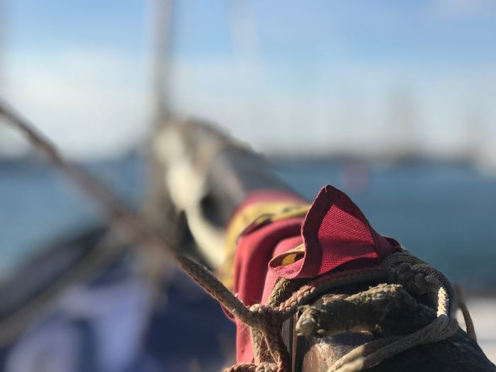 Entena de un barco de Vela Latina Entena Vela Latina Day Sea Water Sky