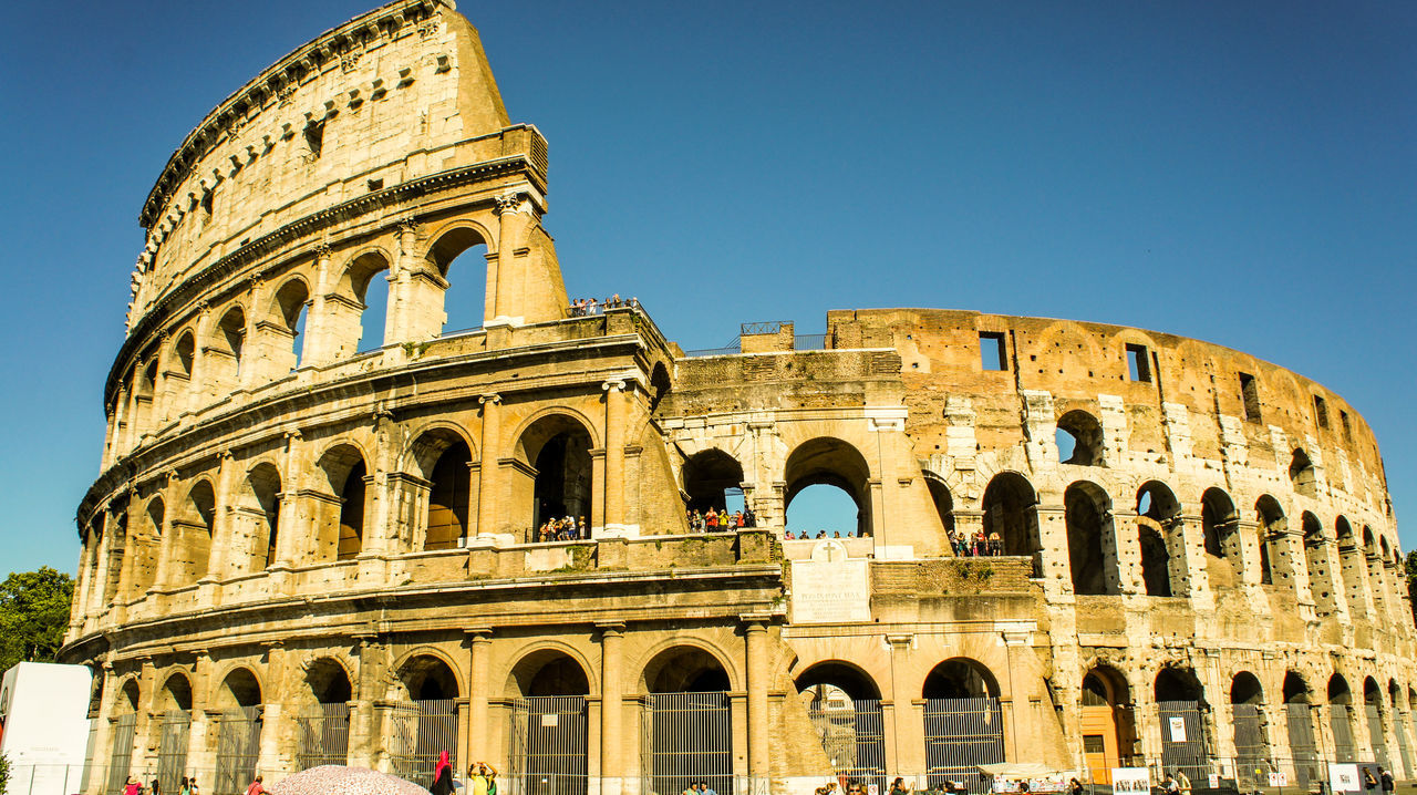 Low Angle View Of Colosseum