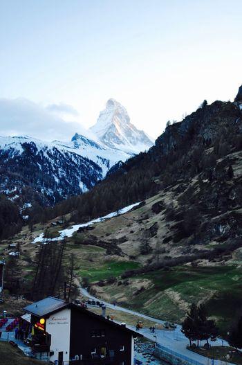 Evening vibe Beauty In Nature Cold Temperature Landscape Matterhorn  Mountain Nature Scenics Snow Snowcapped Mountain Zermatt