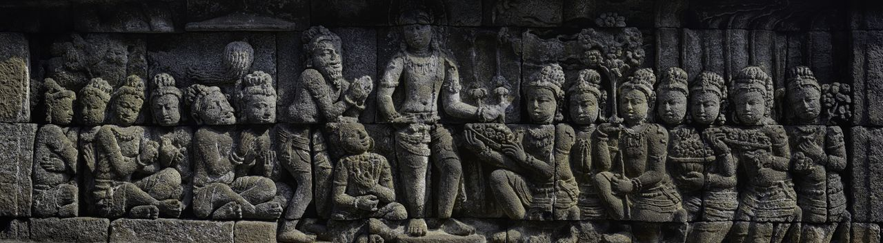 Acient Sculture Art Art And Craft Carving Carving - Craft Product Creativity EyeEm EyeEm Best Shots EyeEm Gallery From My Point Of View Geometry History Human Representation Obsolete Old Ornaments Ruined Sculpture Statue Stone Stone Wall Stone Wall Carving Taking Photos Temple Wall Borobudur Temple