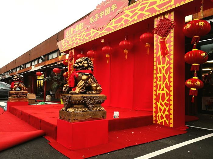 new year Tradition Architecture Red No People Chinese New Year Dragon Multi Colored Outdoors Day