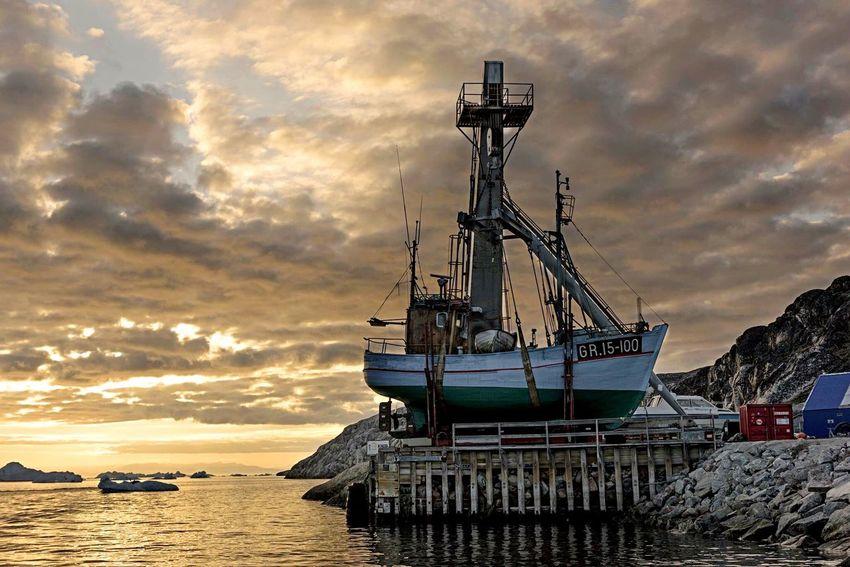 Sea Fishing Boat Fishing Port Greenland,ilulissat Landscape Sunset EyeEm Best Shots Eye4photography