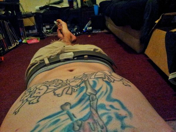 Thawing out after biking home. It's 6°F outside right now... Ink Tattoo Skeleton Thaw