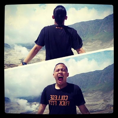 Shout from the top Papandayan Photoself Narcism photooftheday