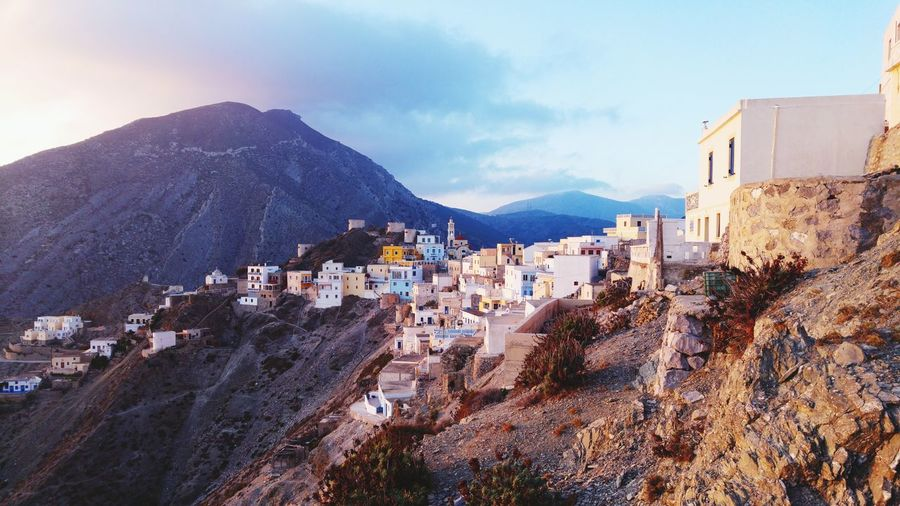 Traditional White Buildings On Greek Island