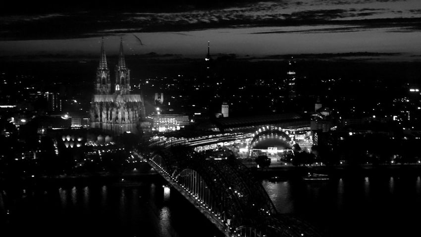 Cologne from above Köln is such a beautiful city - especially at night Cologne Colognecathedral Köln Night Lights Skyline Citysights