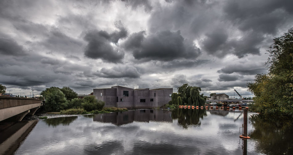 The Hepworth Art Gallery - Seen from across the canal. Architecture Built Structure Canal City City Cityscape Cityscape Cloud - Sky Culture Day England Hepworth Gallery No People Outdoors Storm Cloud Uk Urban Wakefield Water West Yorkshire