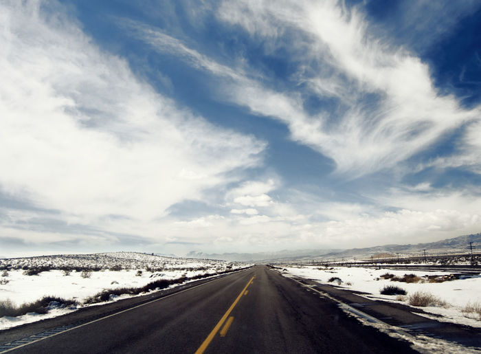 Heading south just out of las vegas, nevada, in the dead of winter
