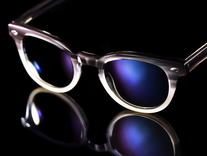 Sunny Sunglasses Reflection Sunny Day Editorial  Shades Shades Of Blue Glasses