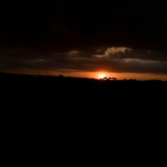 #@Sun$et_Beauty Dramatic Sky Silhouette Landscape Tranquility Tranquil Scene Horizon Nature