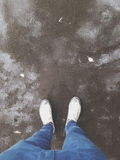 Asphalt White Boots