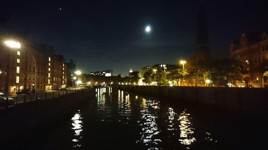 Hamburg Speicherstadt at night. · Hamburg Germany Hh 040 Speicherstadt Hafencity From A Bridge Urban Landscape Architecture City Lights Night Lights Night Photography Night Darkness