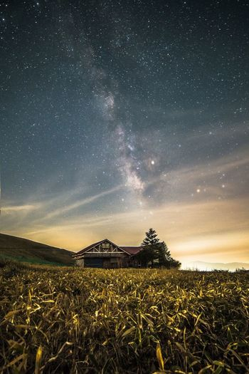 Milky way 🌌 Astronomy Milky Way Star - Space Night Landscape Galaxy Outdoors Space Star Trail Nagano Japan